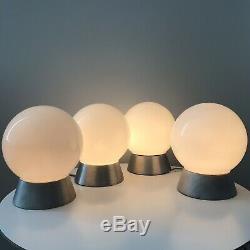1 Vintage PRESCOLITE Flush Mount Glass Globe Ball Light Lamp Mid Century Modern