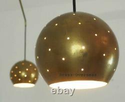 1950 MID Century Urchin Brass Sputnik Chandelier Unique Stilnovo Kalmar Italian