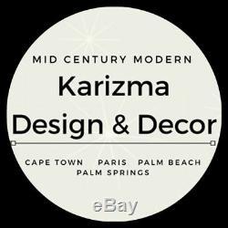 1950's Mid Century Modern Art Deco Glass & Brass Light Fixture Chandelier