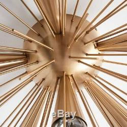 1950's Mid Century Style Modern Brass Sputnik Wall Sconce 6 Arms Light Fixture