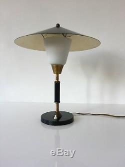 1950s Lyfa Danish Lamp Desk Vintage Mid Century Modern Light Black Brass