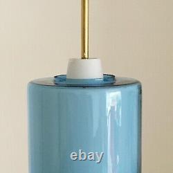 1950s mid Century Glass Pendant Light, Lamp Vintage Louis Poulsen 1960s