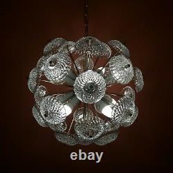 1960 Large Sputnik Dandelion Hanging Ceiling Pendant Light Crystal Chandelier