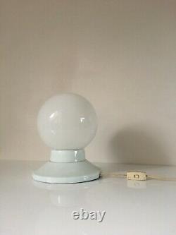 1960s Italian Opaline & Ceramic Table Lamp Light Mid Century Vintage