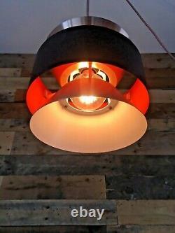 1960s MID Century Danish Fog & Morup Space Age Ceiling Light Shade Jo Hammerborg