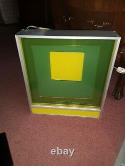 1970 Vintage GREG COPELAND Mid-Century Modern OP ART Lucite ACRYLIC LIGHT BOX