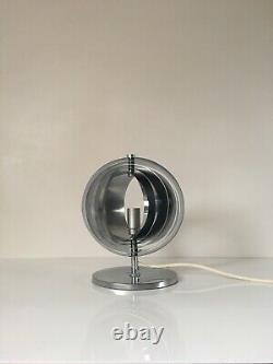 1970s Italian Chrome Table Lamp Light Mid Century Vintage Henri Mathieu