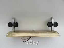 24 Mid-Century Modern Vintage Bathroom Vanity Light Fixture Glass Shade U Shape