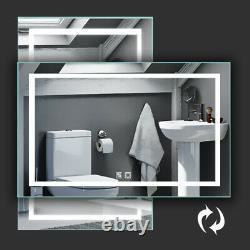40 x 24 inch LED Bathroom Vanity Mirror Superslim Dimmable Anti Fog Night Light
