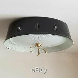 423b 50s 60's Vintage Ceiling Light Lamp Fixture atomic mid-century eames