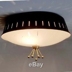 423b 50s 60's Vintage Ceiling Light Lamp Fixture atomic mid-century eames