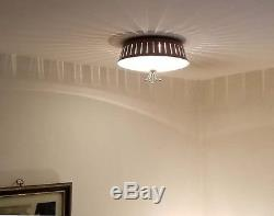 432b 50s 60's Vintage Ceiling Light Lamp Fixture atomic mid-century eames 1 of 3