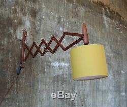 60er Teak Scherenlampe Wandlampe Danish Mid-Century 60s wall lamp vintage light