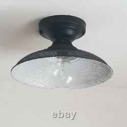 616b 60's NOS Vintage Ceiling Light Lamp Fixture industrial mid-century eames