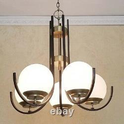 651 Vintage 60s Moe Ceiling Light lamp fixture midcentury eames retro chandelier