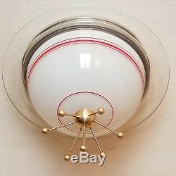 706b 60's Vintage Ceiling Light Lamp Fixture atomic mid-century eames sputnik