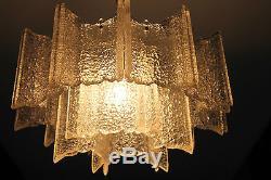 70er Jahre große Modernist Lampe 70s Big Ice Ceiling Light Lamp Mid Century 60er