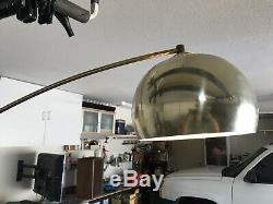 81'' Mid Century Modern Floor Arc Lamp gold/brass Arch Light Base XL