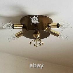 826b Vintage 50s 60s Sputnik Ceiling Light Fixture Mid-Century retro eames