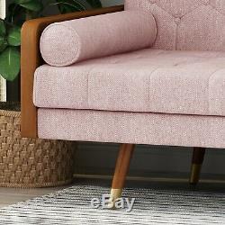 Aidan Mid-Century Modern Tufted Fabric Sofa