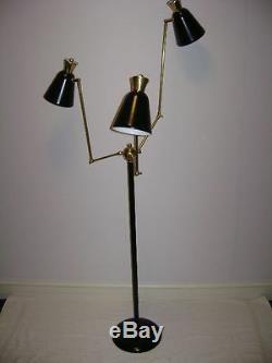 Black STILNOVO Eames ARTELUCE Floor LAMP Light BENDABLE ARMS Mid-Century DECO