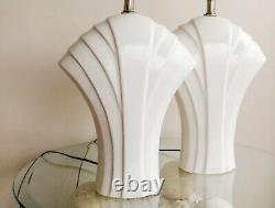 Ceramic Art Deco Table Lamp American Vintage Mid Century Light