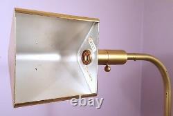 Chapman Brass Floor Lamp Mid-century Modern Tubular Reading Light Vintage 1981