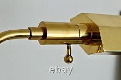 Chapman Vtg Mid Century Modern Brass Arm Task Reading Floor Lamp Light Koch Lowy