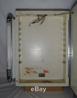 Deluxe Bathroom Medicine Cabinet Bullet Lights Vintage Mid Century Art Deco