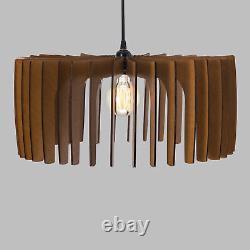 Dezaart Mid Century Scandinavian Wood Pendant Light Modern Vintage Chandelier