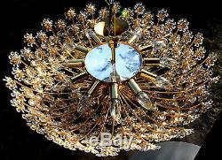 FLUSH MOUNT by PALWA Ceiling Light Mid Century 1960s Gilt Gold Jewels Gigantic