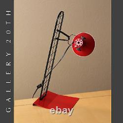 Fab! MID Century Modern Red Desk Lamp! Italian Stilnovo Vtg 80's Lighting Atomic