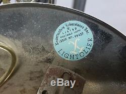 Gaetano Sciolari Lightolier 24 Light Chandelier Mid Century Modern Free Shipping