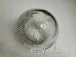Glass Globe Light Shade Ribbed Dome Clear Holophane Vintage Mid Century Modern