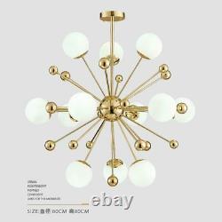 Gold Mid Century Ceiling Lamp Modern Pendant Light Fixture Sputnik Chandelier