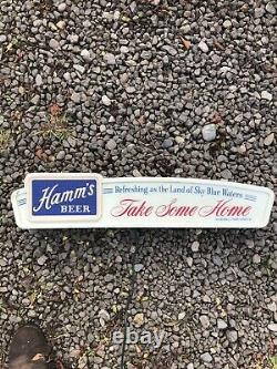 HAMM'S MIDCENTURY LIGHTED BEER SIGN Take Some Home NICE WORKING CONDITION