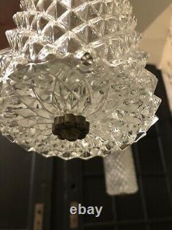 Hollywood Regency Swag 2 Light Vintage MCM Mid Century vtg spike globe lamp