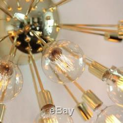 Indursrial 17 Lights Arms Mid-century Sputnik Chandelier Light Fixture Chandlier