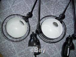 JIELDE VINTAGE INDUSTRIAL 2 ARMS WALL LIGHT LAMP Mid Century DESIGN