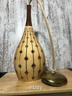 John C Virden Mid Century Modern Ceramic Pendant Hanging Lamp Light Rare