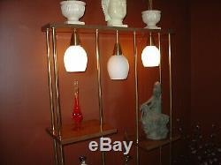 Killer 1950s Mid Century Modern Lighted Room Divider, Shelving Unit, Wall Unit