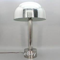 Large 30 Vintage Mid Century Modern Atomic Light Chrome Mushroom MOD Table Lamp
