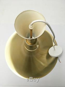 Large Trumpet Pendant Light Lamp 22 Dia Mid Century Danish Modern Fog Morup Era