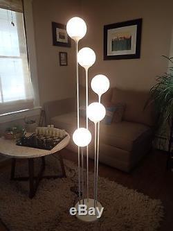 Lightolier mid century 5 light cascading globe floor lamp