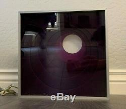 Lucite Acrylic MID Century Modern Purple Op Art Light Box Greg Copeland