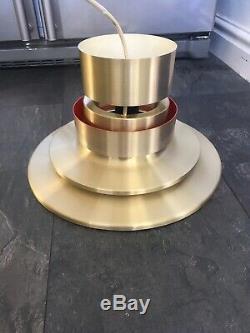 MID Century Danish Carl Thore Granhaga Brass 60's 70's Loop Ceiling Light Shade
