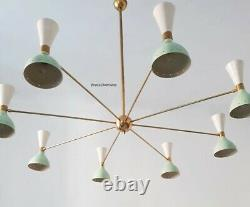 MID Century Diabolo Color Brass Fixture Chandelier Sputnik Stilnovo Industrial