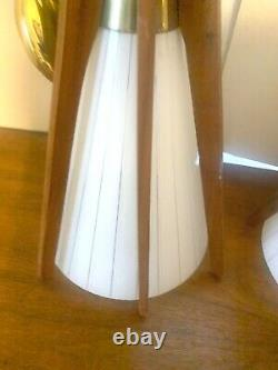 MID Century Modern Lamps Pendant Light Set Pair Vintage Modeline