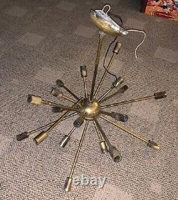 MID Century Modern Sputnik Chandelier 20 Lights Atomic Space Age