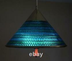 MOE Honeycomb Pendant Ceiling Light Blue Turquoise Pull Down Mid Century Modern